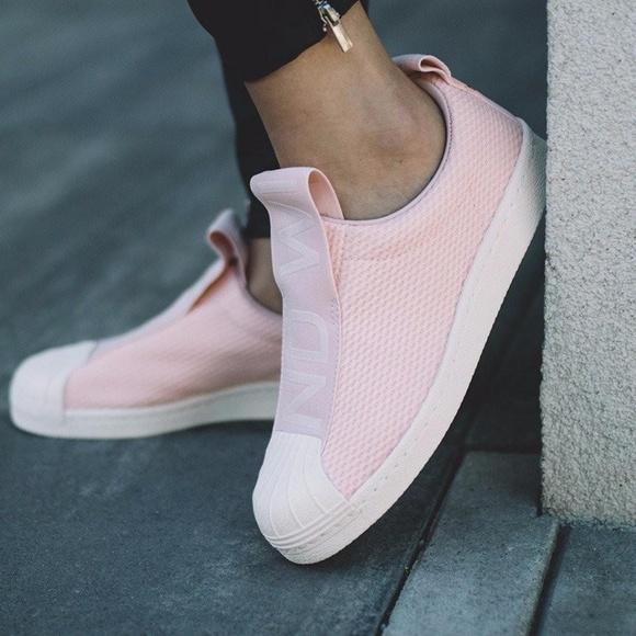 size 40 f8aca c0d59 7.5    Adidas Superstar Slip On Baby Pink Ice